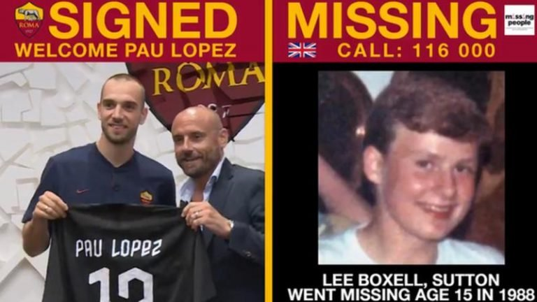 AS Roma uses social media to find missing children