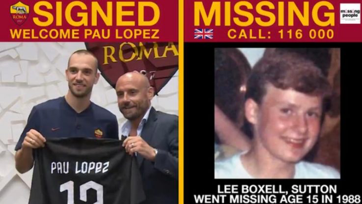 Six children have been found so far by pairing their photos with AS Roma transfer signings
