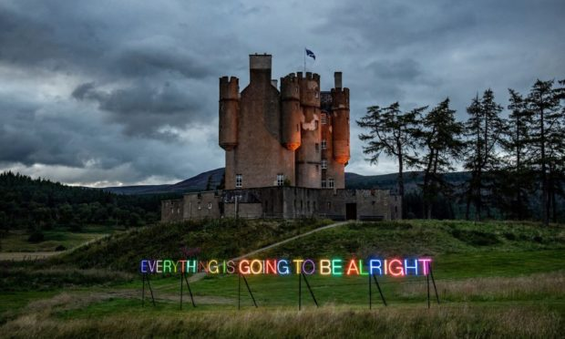 Everything is going to be alright - by Turner Prize winner Martin Creed  (Photo credit Sim Canetty Clarke)