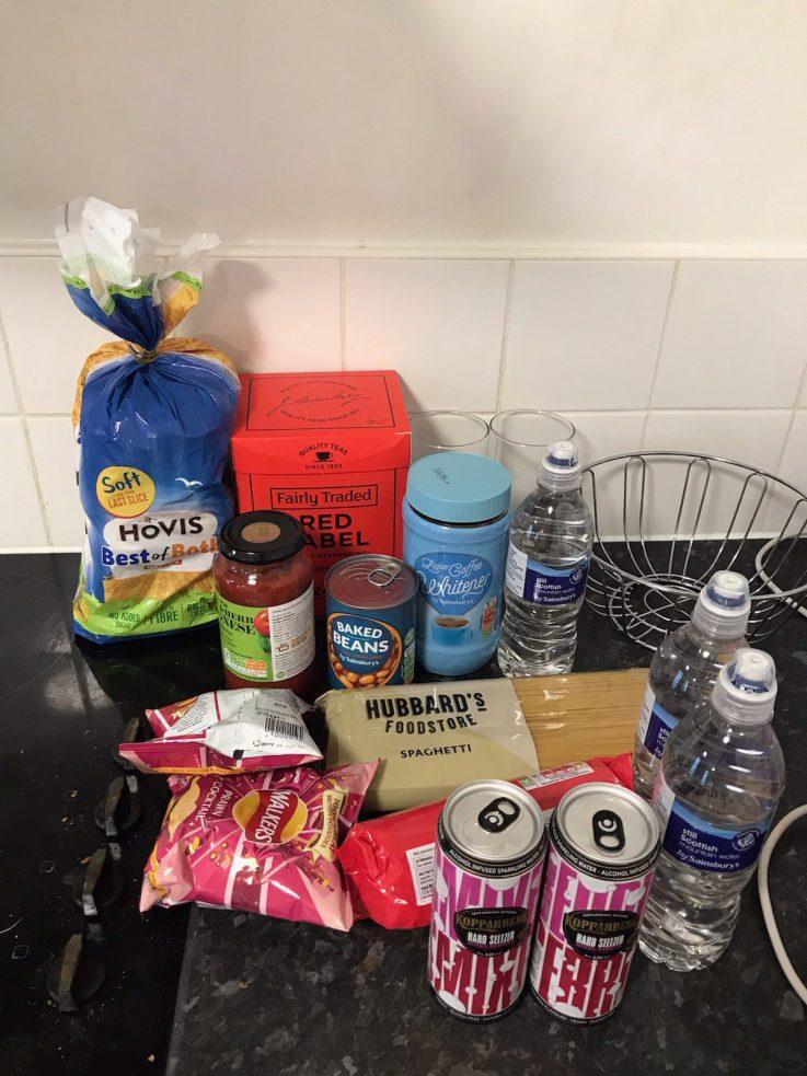 Sainsbury's drops off student food parcels