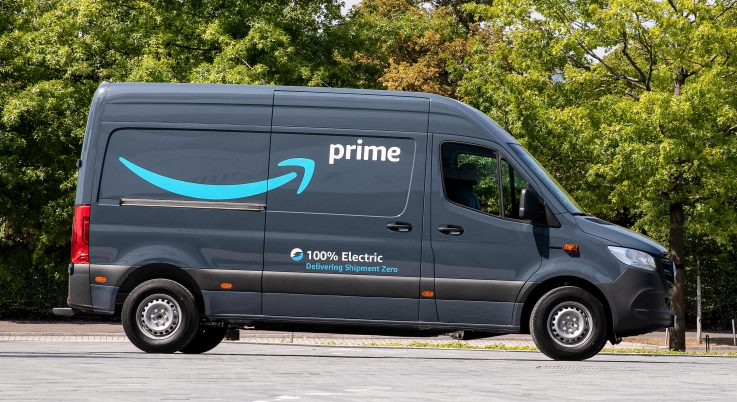 Amazon all electric delivery van