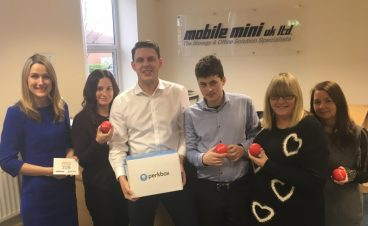Representatives from Mobile Mini and Perkbox celebrate the launch of the scheme